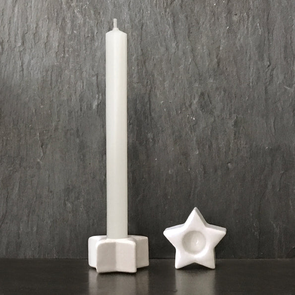 Porcelain Star Thin Taper Candle Holder