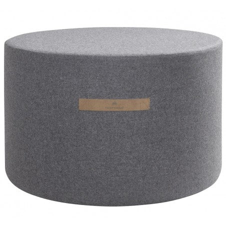 Shepherd of Sweden Sara Round Wool Pouf 60x40cm Granite