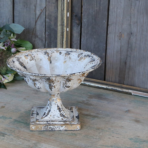 distressed metal french bowl centrepiece