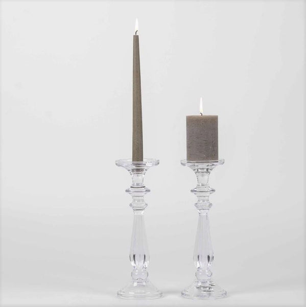 Classic Glass Candlestick for either pillar or dinner taper candle