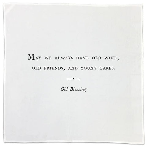 Set of 10 Oversized Friendship Napkins - Greige - Home & Garden - Chiswick, London W4