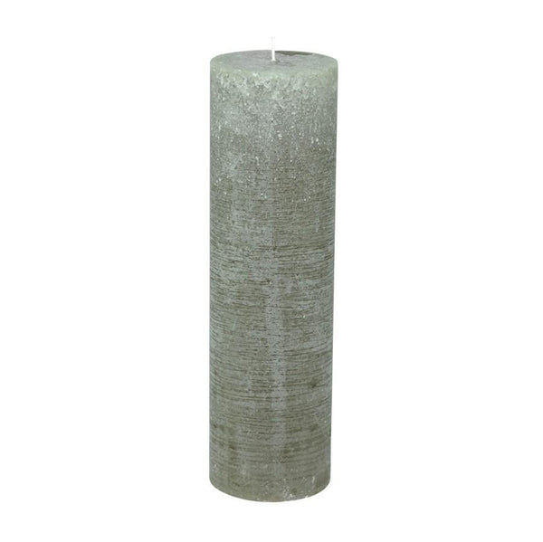 Extra Tall Rustic Pillar Candles - 10 x 35cm