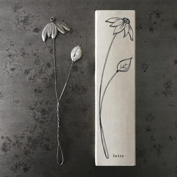 Porcelain hand-crafted and painted Daisy Stem