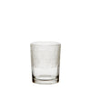 Clear Glass Vase or Hurricane with Line Cut Pattern - Three Sizes - Greige - Home & Garden - Chiswick, London W4