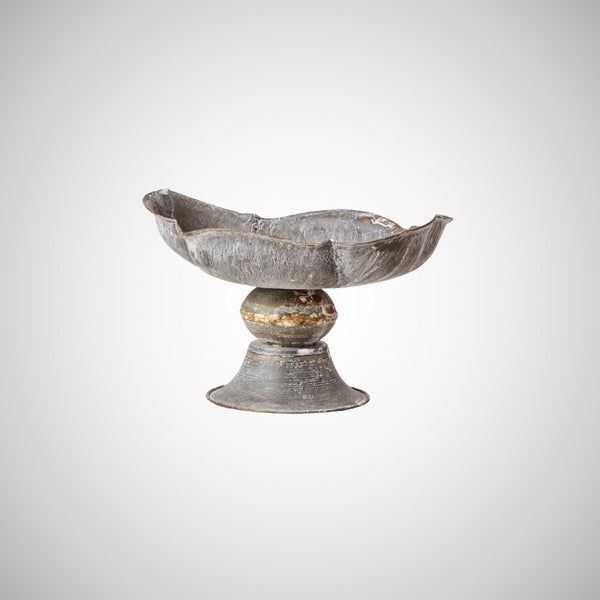 Antiqued Galvanised Decorative Bowls - Three Styles - Greige - Home & Garden - Chiswick, London W4