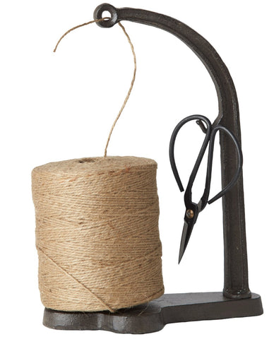 Cast Iron Jute String Holder with iron scissors