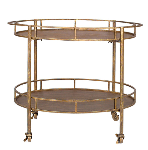 Old Gold Bar Cart