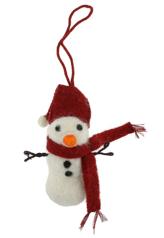 Felt Snowman Hanging Decoration by Fiona Walker