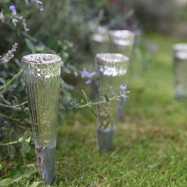 Outdoor Silver Glass Garden Lanterns