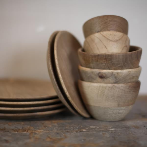Small Mango Wood Bowls - Greige - Home & Garden - Chiswick, London W4