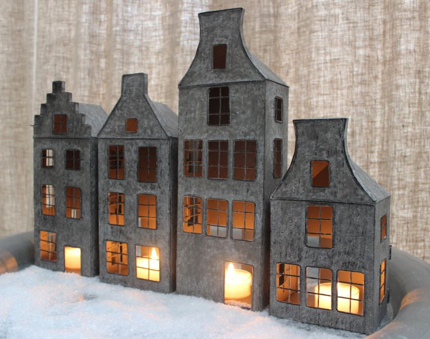 Tin Canal House Tea Light Holders From Holland Greige
