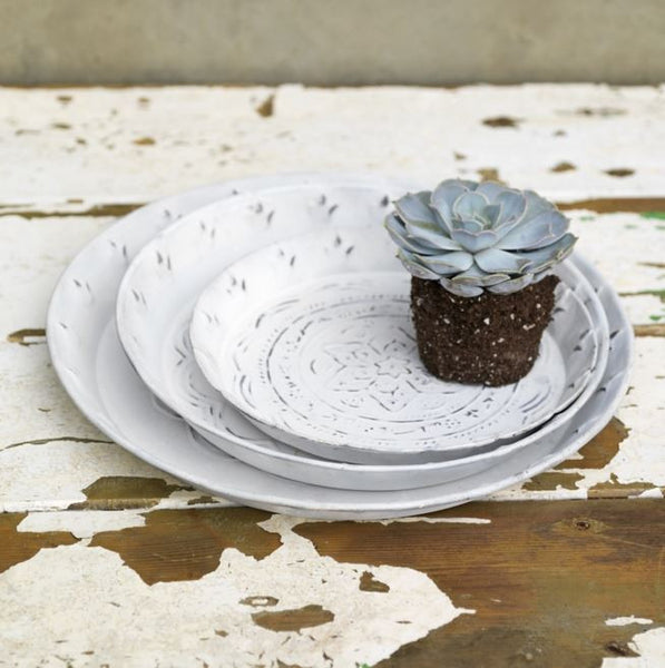 Distressed Metal Tray - Three Sizes - Greige - Home & Garden - Chiswick, London W4