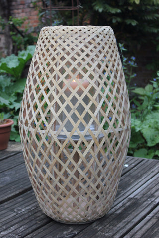 "Broste Bamboo Wooden Lantern ""Anak"" - Two Sizes"