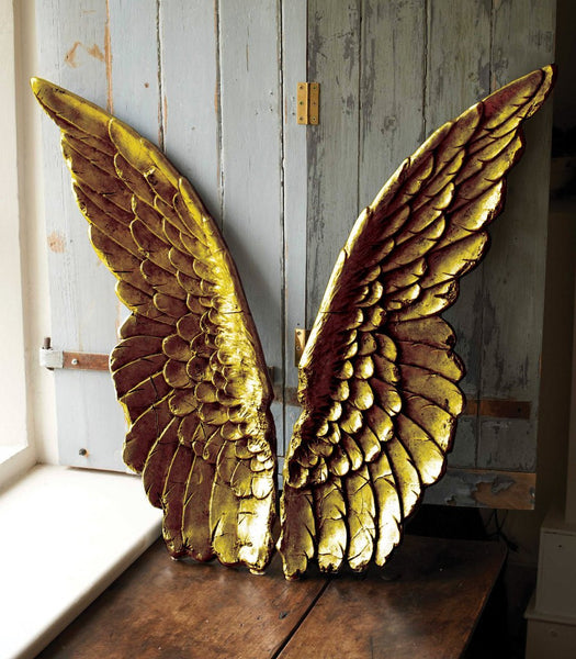 Large Decorative Angel Wings Silver Or Gold