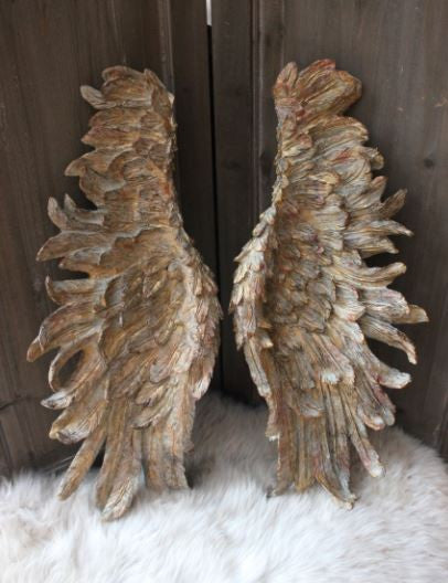 Large Decorative Angel Wings - Gold - Greige - Home & Garden - Chiswick, London W4
