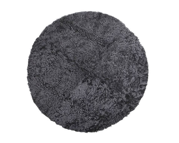 Curly Sheepskin Seat Cover, Pad - Graphite Grey, Asphalt, Stone or Creme - Greige - Home & Garden - Chiswick, London W4