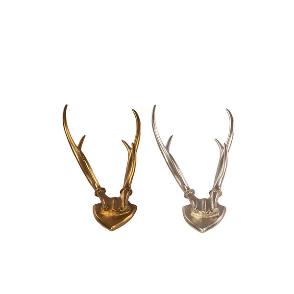 Silver and Copper Decorative Resin Antlers for Wall