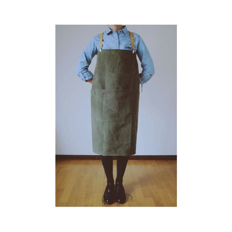 Apron with Braces - Greige - Home & Garden - Chiswick, London W4