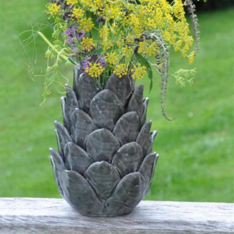 Artichoke Vase - Green Grey - Greige - Home & Garden - Chiswick, London W4