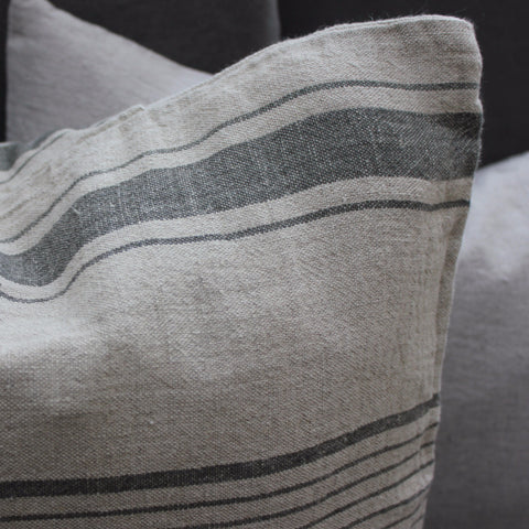 Pure Linen Cushion Covers - Greige - Home & Garden - Chiswick, London W4