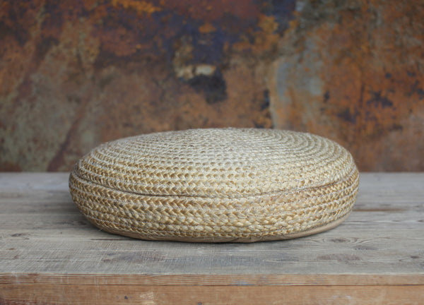 Braided Hemp Pouf - Pouffe - Greige - Home & Garden - Chiswick, London W4