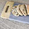 Grey Marble and Mango Wood Platter with Handles - Two Sizes - Greige - Home & Garden - Chiswick, London W4
