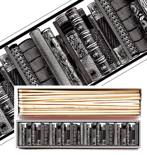 Extra Long Matches in Letterpress Printed Luxury Matchbox - Greige - Home & Garden - Chiswick, London W4