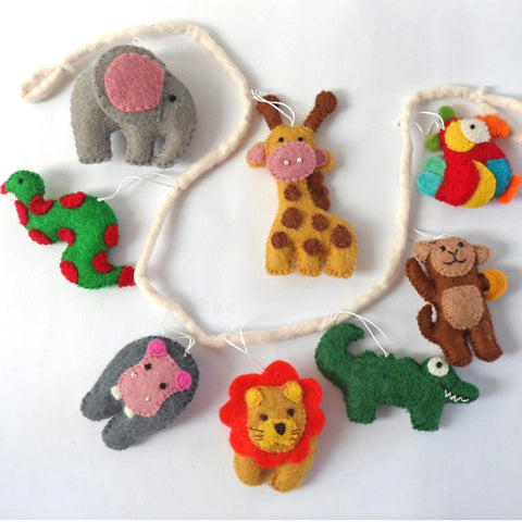 Handmade Felt Baby Animal Garland Decoration