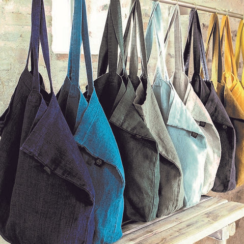 Pure Linen Tote or Shopper Bag - Greige - Home & Garden - Chiswick, London W4