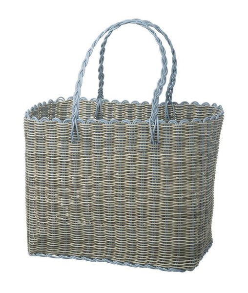 Waterproof Polyrattan Picnic Basket and Beach Basket - Greige - Home & Garden - Chiswick, London W4