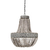 Boho Wooden Bead Ceiling Light - Two Sizes - Greige - Home & Garden - Chiswick, London W4