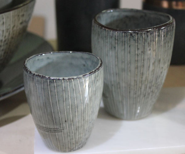 Nordic Sea Ceramic Mugs (Beakers) by Broste Copenhagen - Greige - Home & Garden - Chiswick, London W4