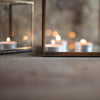Brass & Glass tealight holder