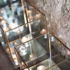 Simple Antique Brass & Glass Box Lantern - Three Sizes - Greige - Home & Garden - Chiswick, London W4
