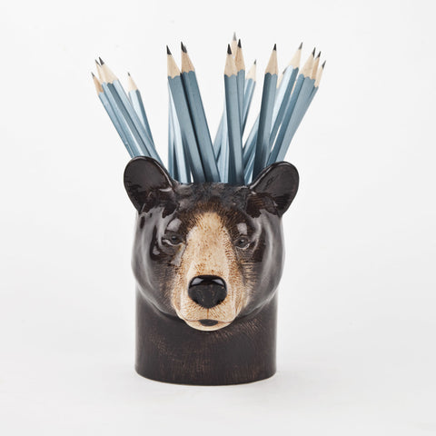 Black Bear Pencil Pot Quail Ceramics