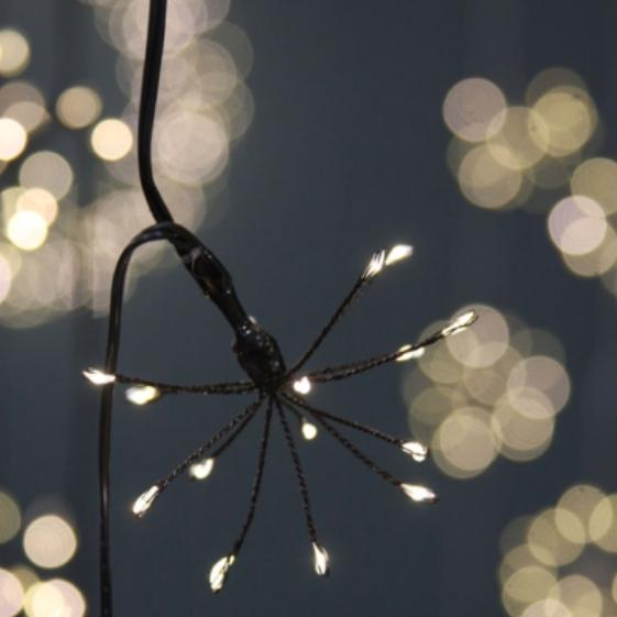 Starburst Light Chain - Silver or Black - Mains Operated - Greige - Home & Garden - Chiswick, London W4