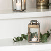 Antiqued Brass Lantern - Two Sizes - Greige - Home & Garden - Chiswick, London W4