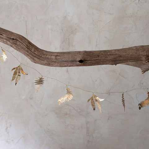 Brass Mixed Leaf Garland - Greige - Home & Garden - Chiswick, London W4