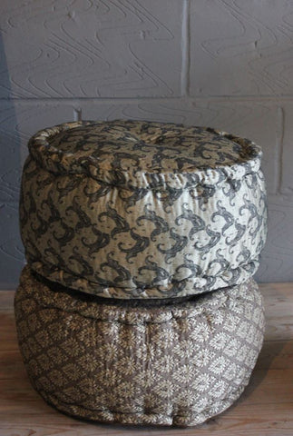 Paisley and Brocade Pouf Footstool