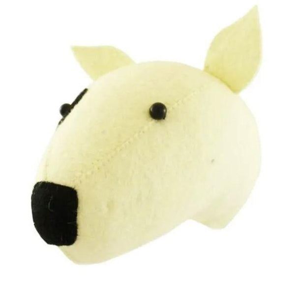 Mini Bull Terrier Felt Head for Wall Fiona Walker
