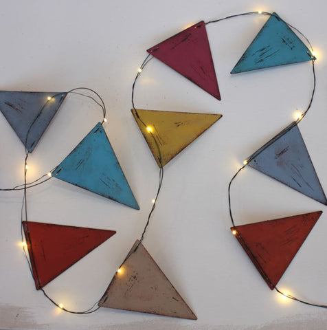 metal bunting light string led lights