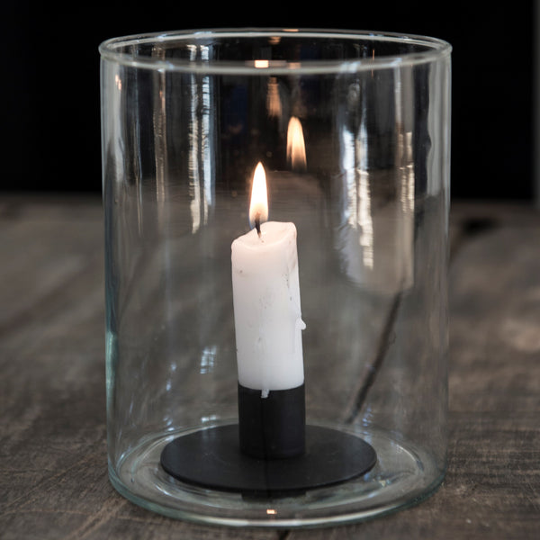 Simple Metal Candle Holder for Using Dinner Candle in Lantern - Greige - Home & Garden - Chiswick, London W4