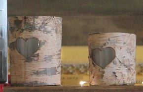 Candle in Birch Holder - Greige - Home & Garden - Chiswick, London W4
