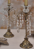 gilt and glass crystal chandelier candlestick