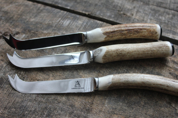 Stag Antler Cheese Knife - Greige - Home & Garden - Chiswick, London W4
