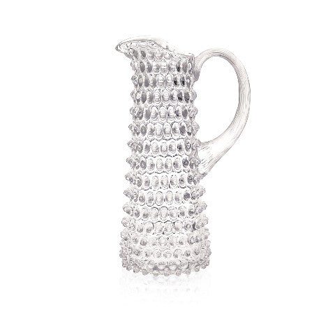 Straight-Sided Hobnail Design Jug - Large - Various Colours