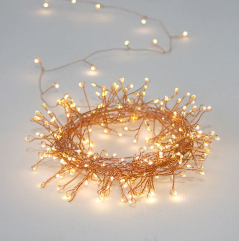 Naked Wire Fairy Lights - Cluster Version - Copper Wire - Greige - Home & Garden - Chiswick, London W4