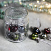 Little Glass Baubles in a Glass Jar - Clear Crackle or Mixed Colours