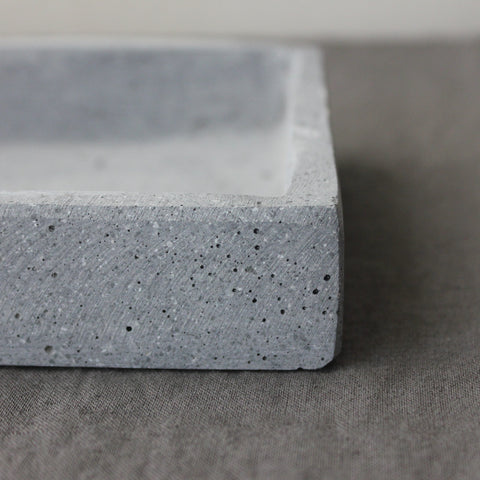 Grey Stone Tray for Candles