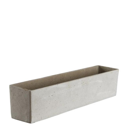 Long Grey Concrete Trough - Two Sizes - Greige - Home & Garden - Chiswick, London W4